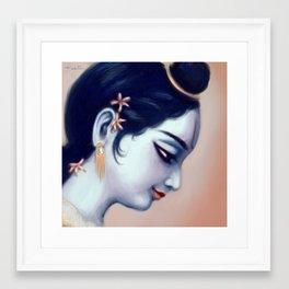 Krishna Profile Framed Art Print