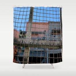 The Gridiron Shower Curtain