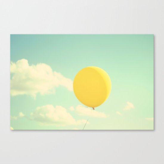 yellow balloon Canvas Print