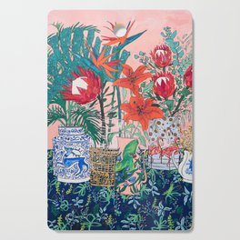 The Domesticated Jungle - Floral Still Life Cutting Board