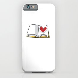 A Book With A Heart In The Middle Motive for a Bookworm iPhone Case