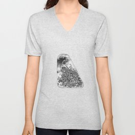 Peacock by annmariescreations Unisex V-Neck