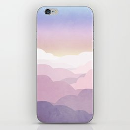 Minimal abstract landscape 01 iPhone Skin
