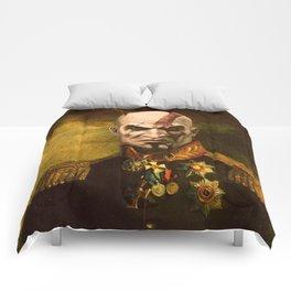 Kratos General Portrait Painting | god of war Fan Art Comforters