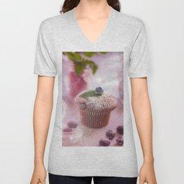 Sweet fruit muffin fine  Unisex V-Neck