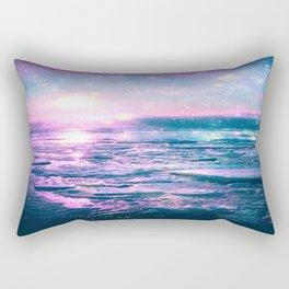 Mystic Waters Vibrant Pink Blue Lavender Rectangular Pillow