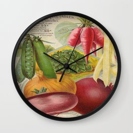 Vintage poster - Seven Grand Vegetables Wall Clock