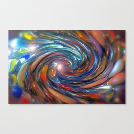 Twirling Marbles Canvas Print