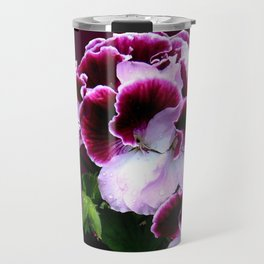 Pink Purple Flower Power Travel Mug