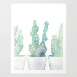 Tri Cacti Art Print