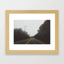 Foggy Canyon Road Framed Art Print
