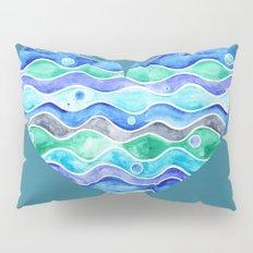 A Sea of Love (blue) Pillow Sham