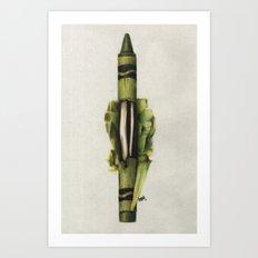 To The Core: Green Art Print