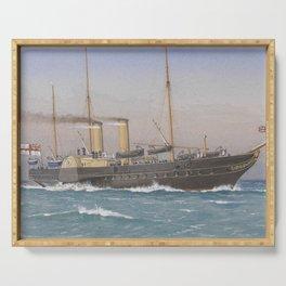 Vintage British Royal Yacht Illustration (1870) Serving Tray
