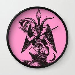 Black and Pink Baphomet Wall Clock