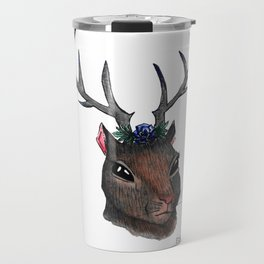 Majestic Squirrel With Antlers Travel Mug