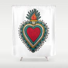 Mexican Heart Shower Curtain