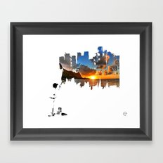 A BETTER DAY Framed Art Print