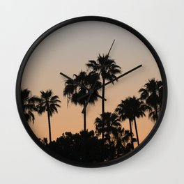 Palm Trees and Sunsets Wall Clock