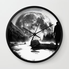 White Moon Wall Clock