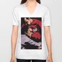 tyler durden V-neck T-shirts featuring Hello I'm Bob/ fight club/ tyler durden by Bearded Bastard