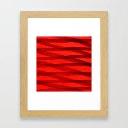 Scarlet Shadows Framed Art Print