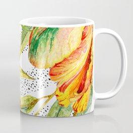 Tropical Watercolor Flowers Coffee Mug