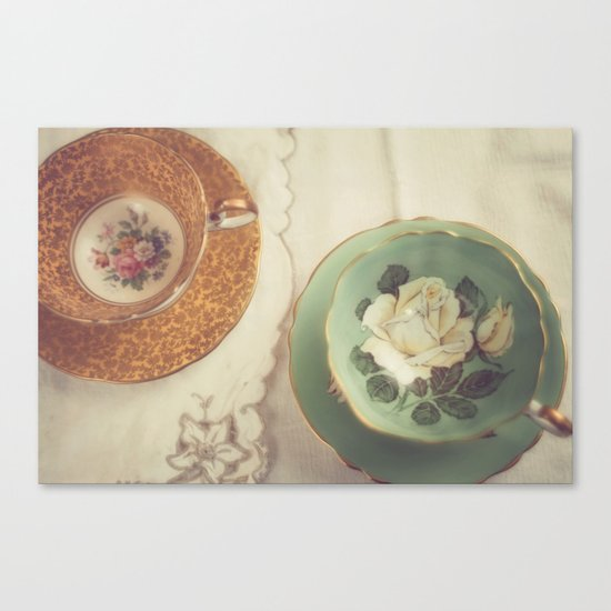 Two Teacups Canvas Print
