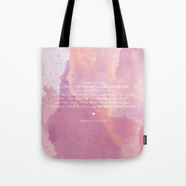 Come To Me | Pink Watercolor Reverse (for Lyndsie Brooker) Tote Bag