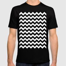 Chevron (Black/White) Black MEDIUM Mens Fitted Tee