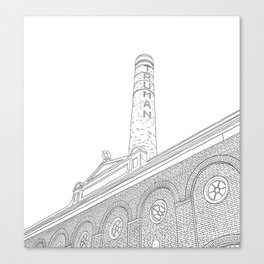 London Truman Chimney - Line Art Canvas Print