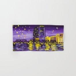 Grand Rapids Skyline Purple Hand & Bath Towel
