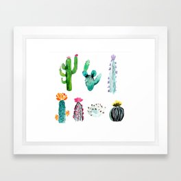 A Prickly Bunch Framed Art Print