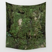 moss Wall Tapestries featuring moss by Gabe Brison