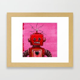 Orange-bot Framed Art Print