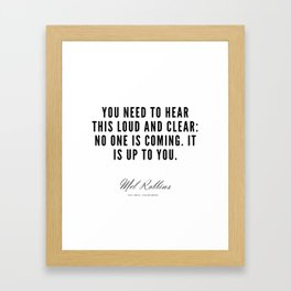 26  | Mel Robbins Quotes | 190802 Framed Art Print
