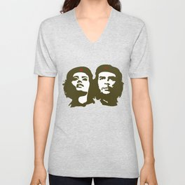 Che Guevara and the woman he loved Unisex V-Neck