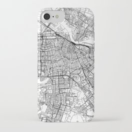 Amsterdam White Map iPhone Case