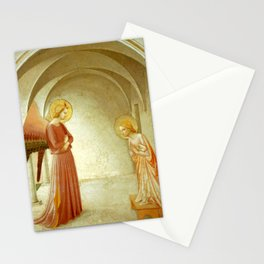 """Fra Angelico (Guido di Pietro) """"Annunciation with Saint Peter the Martyr"""" Stationery Cards"""