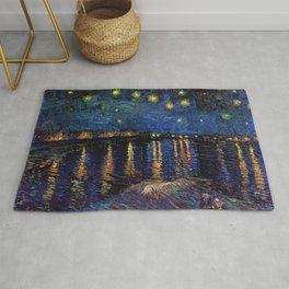 "Van Gogh,"" Starry Night Over the Rhone "" Rug"