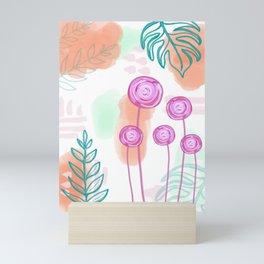 Pastel Floral Wonder Mini Art Print