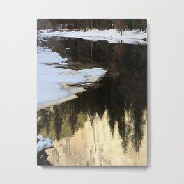Color of Tu Tock Anula in the Merced River (Yosemite) Metal Print