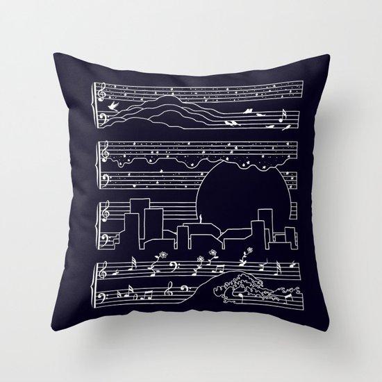 The Moonlight Sonata Throw Pillow