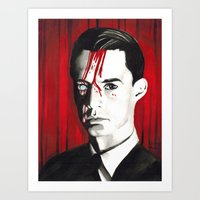 dale cooper Art Prints featuring Agent Dale Cooper by Narnia Tattoos