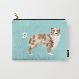 Australian Shepherd red merle funny dog fart Carry-All Pouch