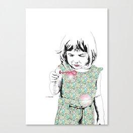BubbleGirl Canvas Print