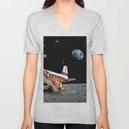 Travel to the Moon Unisex V-Neck