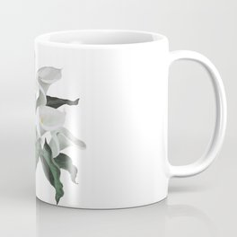 Painted Cream Calla Lilies Vector Coffee Mug