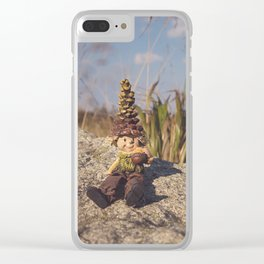 Wood Elf Clear iPhone Case