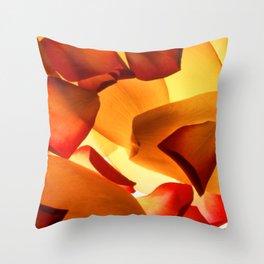 Thrown Petals Throw Pillow